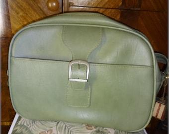 Vintage Samsonite Luggage Tote Olive Green Royal Traveller Sidekicks