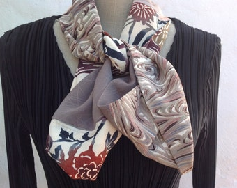 SALE  reduced price  Kimono silk infinity scarf ,  Gorgeous muted colours,FREE SHIPPING