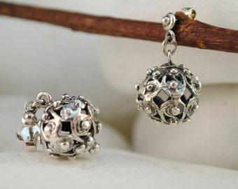 Handmade Sterling Silver Dangle Earrings
