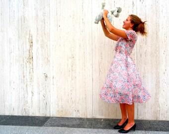 Vintage polka dot sheer 1950s dress