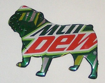 BULLDOG Magnet - Mountain Mtn Dew Soda Can