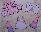 DIY Daisy Duck Lipstick Heart Purse Bow Flower Nail Polish Purple Pink Lavender Set Make Your Own Daisy Birthday Party Centerpiece
