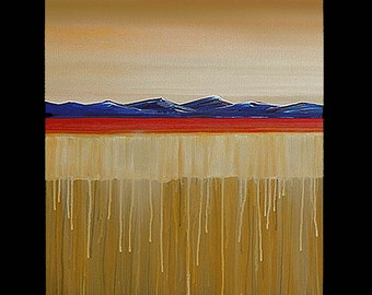 ORIGINAL Painting Landscape Large 40x30 Abstract Surrealism Wall Art By  Tom Gress