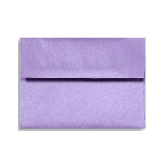 a7 envelopes pearl metallic amethyst lilac purple lavender