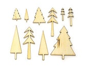 TREES Studio Calico Wonderland Collection Laser-Cut Wood Veneer Shapes  - Distress, Mist, Embellish