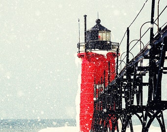 Snowy South Haven Lighthouse - Michigan Fine Art Photography - Kalamazoo Fine Art Photography