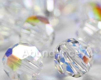 36 pieces Genuine Swarovski Elements - Swarovski Crystal Beads 5000 5mm Round Ball Beads - CLEAR AB