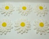 Daisies, Wool Felt Blend Die Cuts