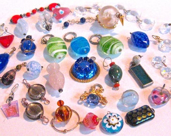 30% Off FORTY PLUS Glass Drop Jewelry Pendants & Charms SALE