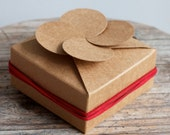 Four Leaf Clover Kraft Paper Gift Box - 8.5cmX8.5cmX3.5cm - 10 boxes