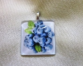 Blueberries Pendant or Scarf Slide, scarf jewelry, scarf ring