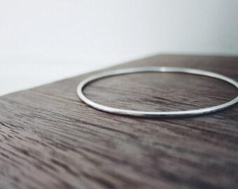 Thin Sterling silver simple bangle basic bangle