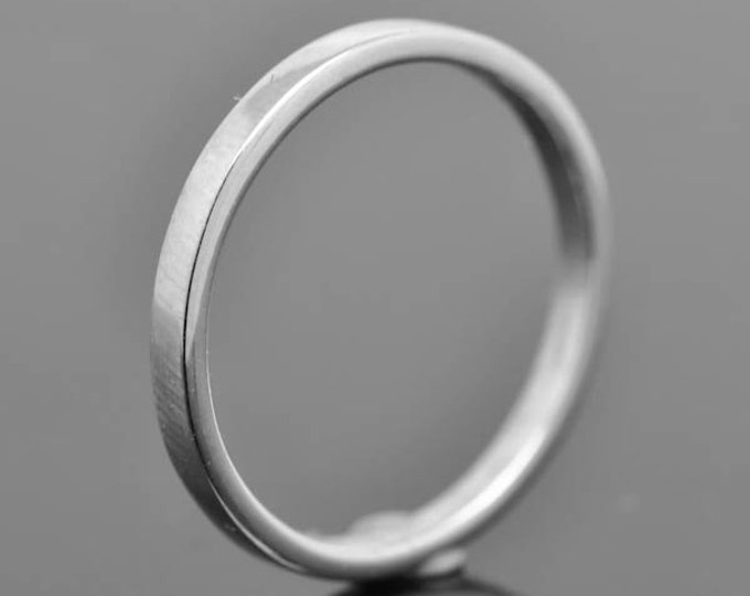 14K palladium white gold ring, 2mm X1mm, flat, wedding band, wedding ring, square, mens ring, his and hers, size up to 6