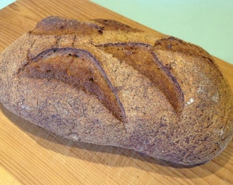 Buckwheat & Molasses Artisan Bread (gluten free, no dairy, no gum)