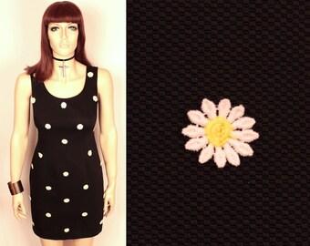 1990s daisy applique dress // Laundry by Shelli Segal