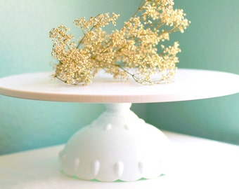 """Cake Stand / Wedding Cake Stand in 12"""" 14"""" 16"""" 18"""" / Scallop Cake Stand for your Custom Wedding Cake"""