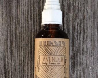 organic lavender spray mist 2oz