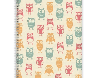 Notebook A4 - Owl-Pattern
