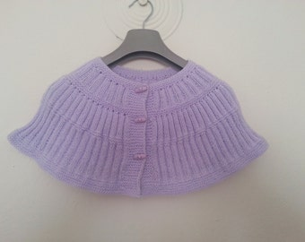 Women Shrug Caplet With Button. Poncho in Lilac, Usa seller