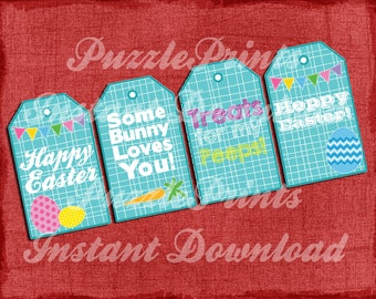Instant Download Printable Easter Tags