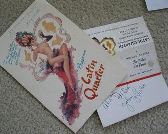Vintage Latin Quarter follies program   Admitance cards   1956 Media room Decor