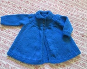 Baby Girls Toddler Swing Sweater Coat  Hand Made Size 2T From a Vintage Pattern