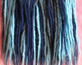 CUSTOM medium crochet synthetic dreadlock extensions - natural look, double ended, 40 pieces.