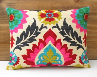 Modern mulitcolor floral decorative throw pillow cover
