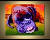 Boxer Portrait | Custom Boxer Portrait | Boxer Painting From Your Photos | Boxer Art by Iain McDonald