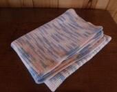 Free Shipping VINTAGE CROCHET PASTEL Rug Machine Washable White Pink Blue Afghan Nursery Decor Retro Baby Nursery Rug