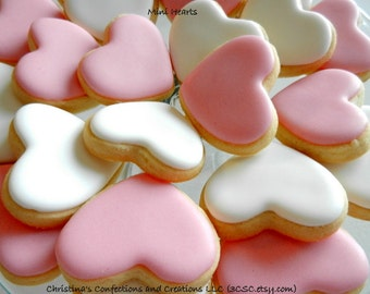 "1.5"" MIni Hearts Cookies - Great for your Sweetheart- or an add on to another cookie item (#2328)"