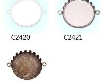 20PCS 25MM/1 Inch Round Bracelet bezel, fit 25mm round glass cabochon,bracelet blanks