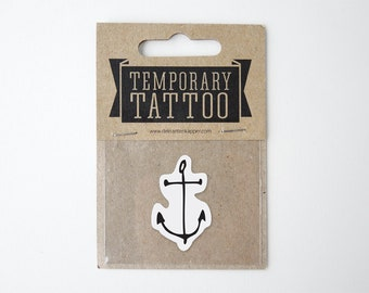 Anchor Temporary Tattoo small size
