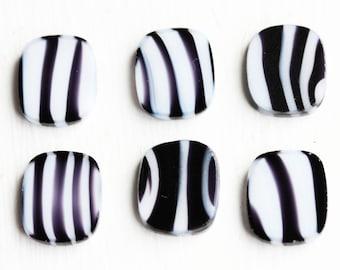 Zebra Stripe Cabochons (6x)