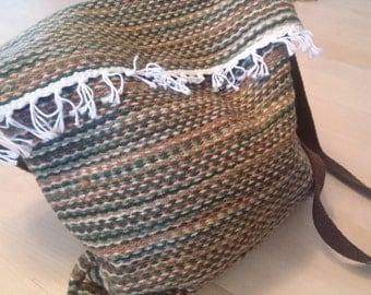 Camo Handwoven Messenger Tote, Bag, Purse, handbag