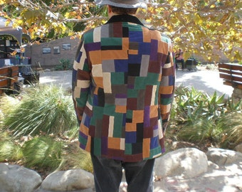 Hippie Patchwork Corduroy Festival Coat  OOAK Festival Clothes Hippie Clothes Festival Clothing Hippie Clothing