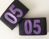 Numbered Arm Bands - Slip-on or Velcro - Custom colours and size