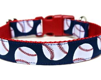 """Baseball Dog Collar 1"""" Sports Dog Collar"""