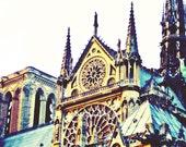 Notre Dame, 8 x 10 Fine Art Photograph, Paris in Color, Rose Window,Gothic,Architecture, Pop, Dorm Decor, French, Travel, European, Romance