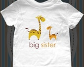 big sister giraffe design No. 1 Birth pregnancy announcement Infant Baby One-piece, Infant Tee, Toddler, Youth T-Shirts