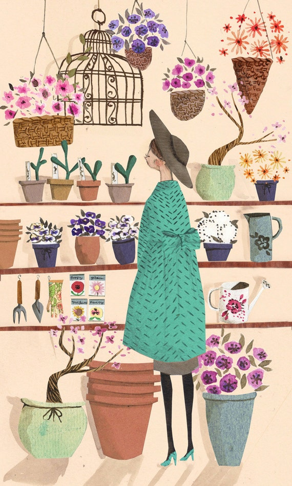 The Flower Shop A4 Art Print