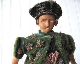 Antique doll indonesia eastern india  man prince world travel collectible