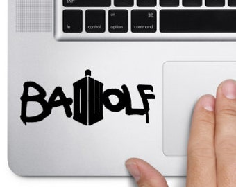 Bad Wolf Doctor Who inspired mackbook trackpad decal