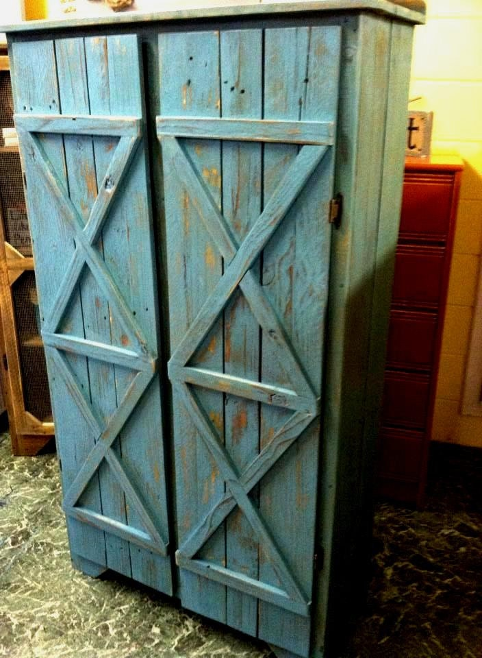Reclaimed Solid Wood Pie Safe Kitchen Pantry By Griffinfurniture