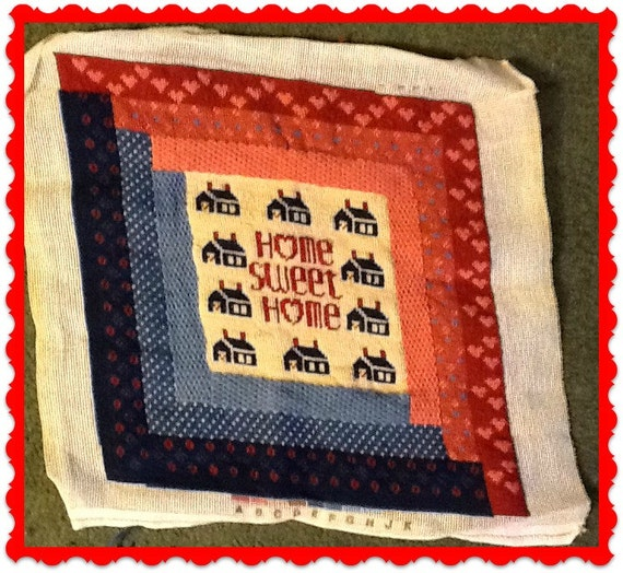 Home Sweet Home Needlepoint Completed Fancy Stitches Looks