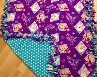 Frozen Fleece Tie Blanket