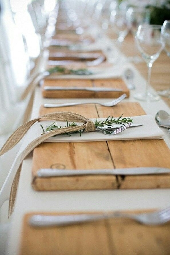 Wood Placemats Rustic Wedding Rustic Christmas Rustic
