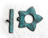 Large Toggle clasp, Patina on copper, Greek, 35mm, greek rustic, jewelry making, findings - 1pc - F128