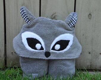 Raccoon Hooded Towel