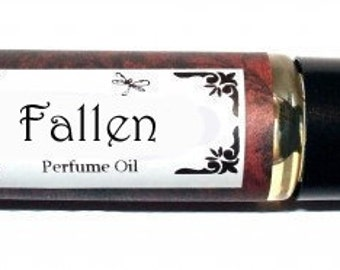 FALLEN Roll on Perfume Oil - EXOTIC - Jasmine Lily Patchouli cinnamon Vanilla Musk